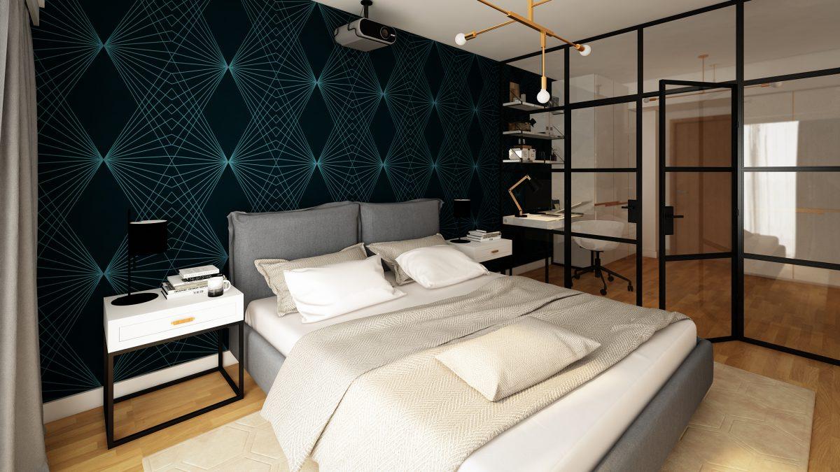 Design de interior apartament pipera - dormitor
