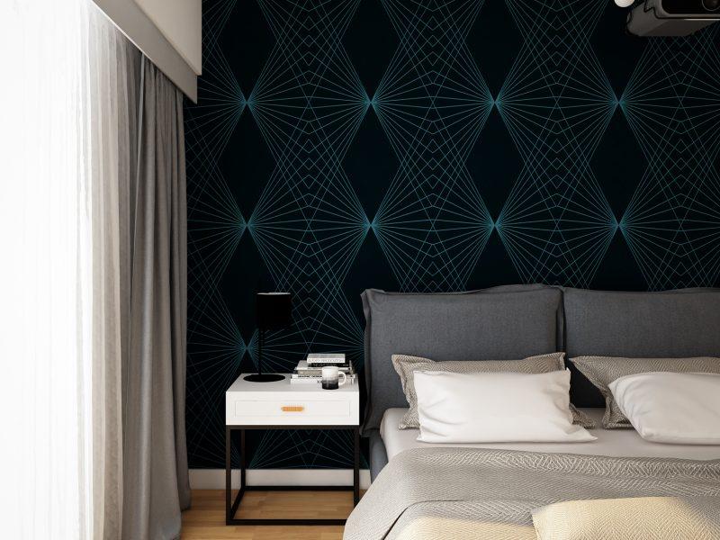 Design de interior apartament pipera - detaliu dormitor