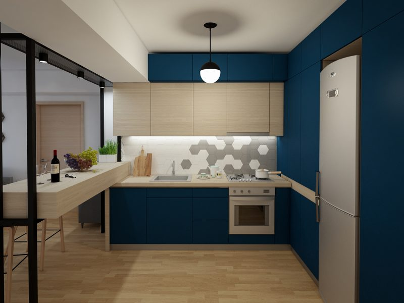 Design de interior apartament pipera - bucatarie