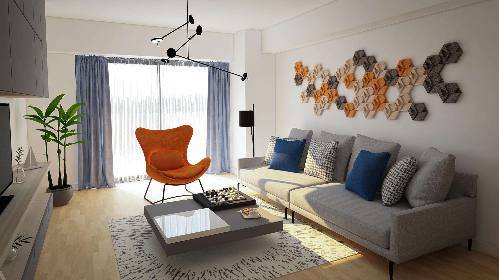 Design de interior apartament pipera - living room