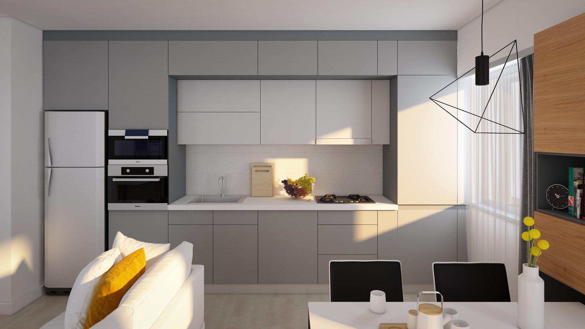 design interior apartament pitesti bucatarie