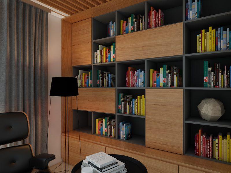 design interior apartament pitesti biblioteca detaliu
