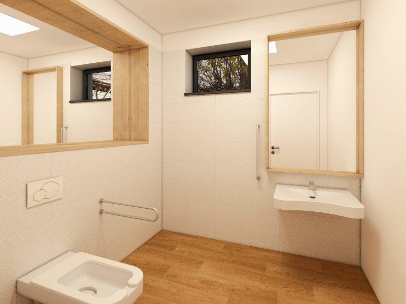 Clinică medicală - Design interior grup sanitar 01