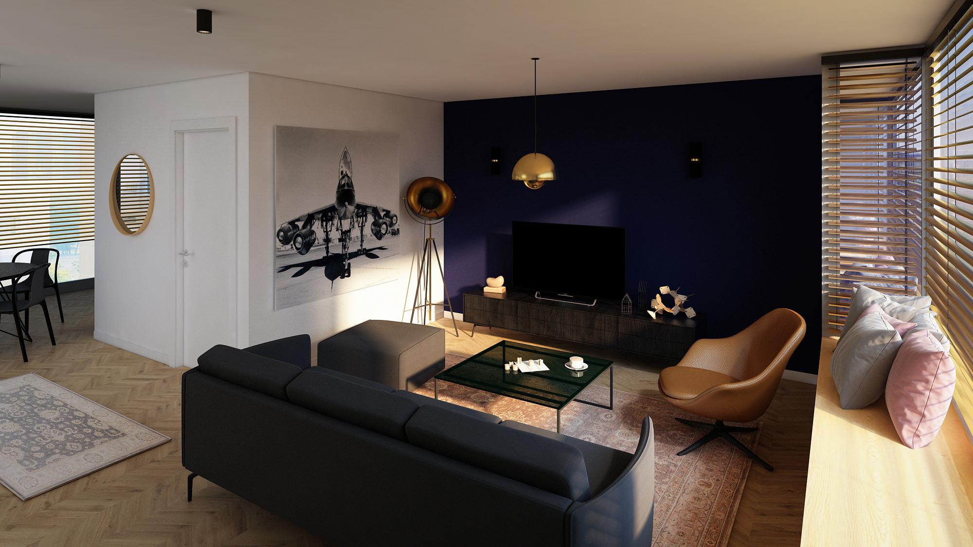 Space Sparkle - design interior - Living penthouse occidentului